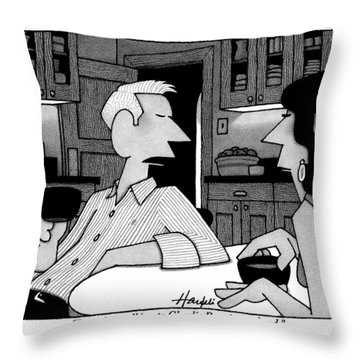 A Man To His Wife Throw Pillow
