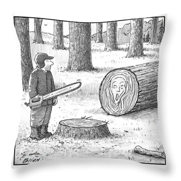 A Man Who Has Just Cut Down A Tree Sees That Throw Pillow