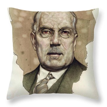 Throw Pillow featuring the painting A Man Who Used To Be A Big Cheese by James W Johnson