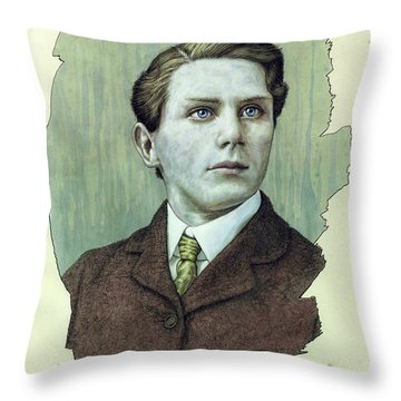 Throw Pillow featuring the painting A Man Who Used To Be A Dreamer by James W Johnson