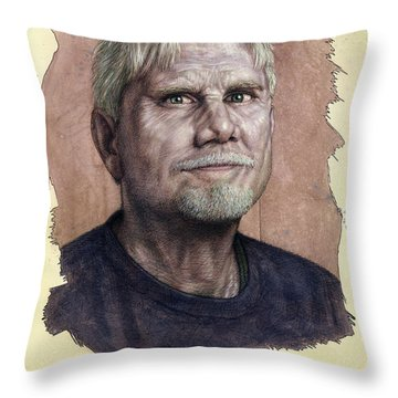 Throw Pillow featuring the painting A Man Who Used To Be A Serious Artist by James W Johnson