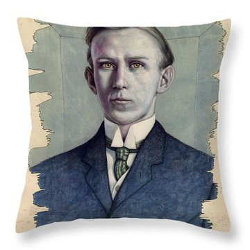 Throw Pillow featuring the painting A Man Who Used To Be Somebody To Someone by James W Johnson