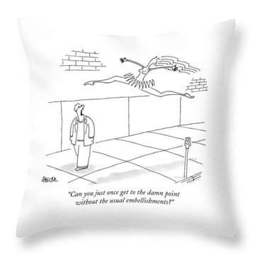 A Man Yells At A Leaping Ballerina In The Street Throw Pillow