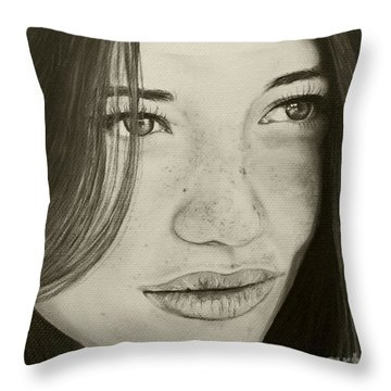 A Mark Of Beauty - Beauty Throw Pillow by Malinda Prudhomme