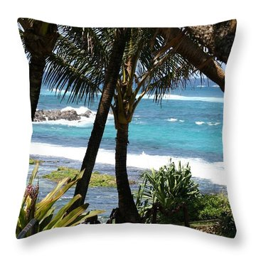 Throw Pillow featuring the photograph A Maui Afternoon by Mary Lou Chmura