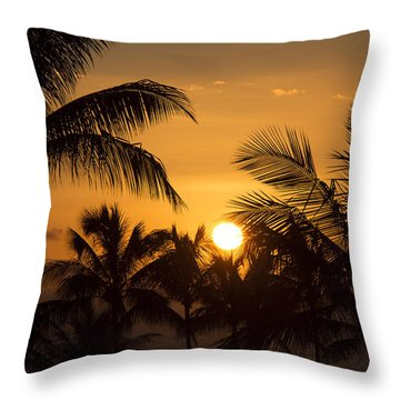 A Maui Sunset Throw Pillow