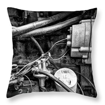 A Mechanic's View Throw Pillow by Jeff Burton