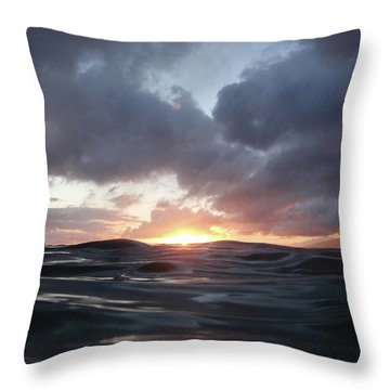 A Mermaid's Point Of View Throw Pillow by Suzette Kallen