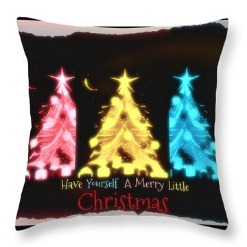A Merry Little Christmas Throw Pillow