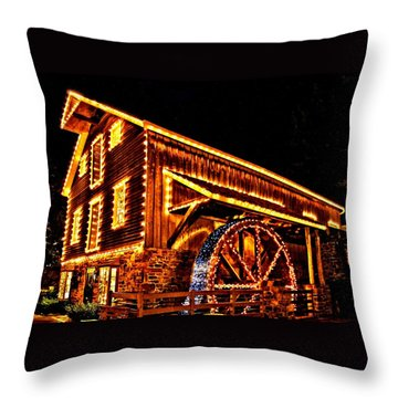A Mill In Lights Throw Pillow