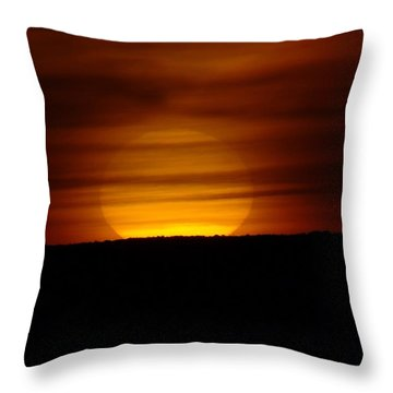A Misted Sunset Throw Pillow by Jeff Swan