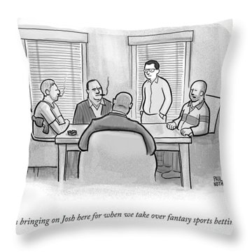 A Mobster Speaks To A Table Of Mobsters Throw Pillow