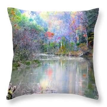 A Monet Autumn Throw Pillow by Mariarosa Rockefeller
