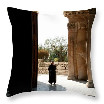 A Monk In Israel Throw Pillow