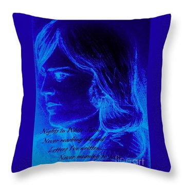 A Moody Blue Throw Pillow