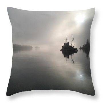 A Moody Morning Throw Pillow by Mark Alan Perry
