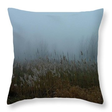 A Morning Fog Throw Pillow