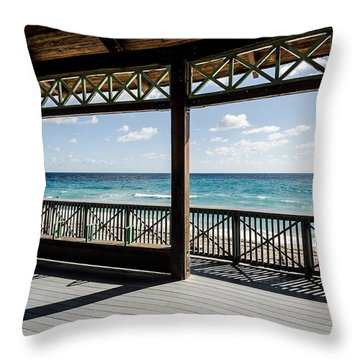 A Morning View Of The Ocean Throw Pillow