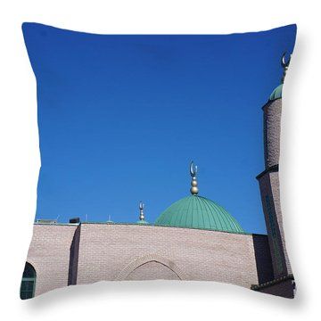 A Mosque Throw Pillow