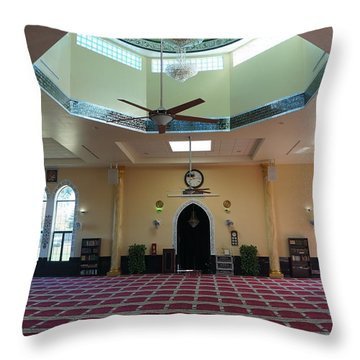 A Mosque Interior Throw Pillow