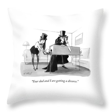 A Mother In A Magician's Assistant Costume Throw Pillow