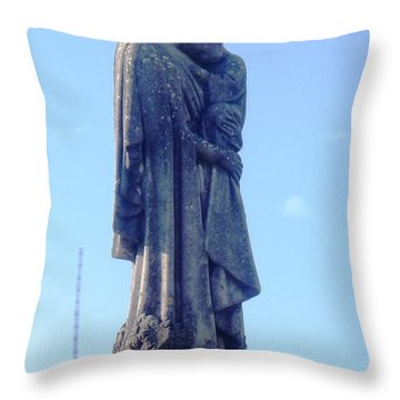 Throw Pillow featuring the photograph A Mother's Love by Alys Caviness-Gober