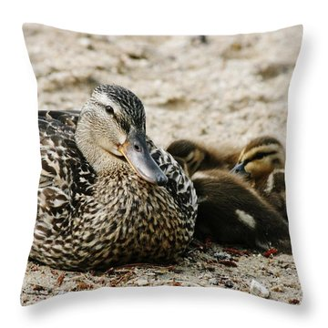A Mother's Love Throw Pillow by Barbara Bardzik