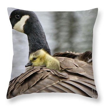 Throw Pillow featuring the photograph A Mother's Love by Heather King