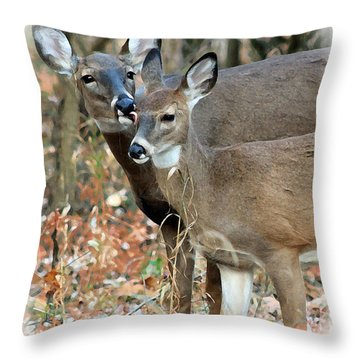 Throw Pillow featuring the photograph A Mother's Love by Lorna Rogers Photography