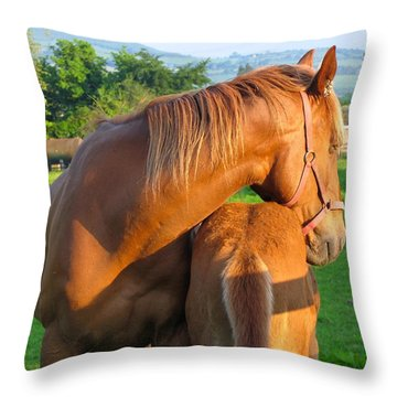 A Mother's Love Throw Pillow by Suzanne Oesterling