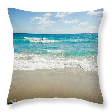 A Mourning Surf Throw Pillow