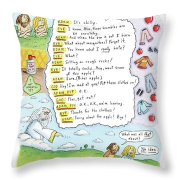 A Narrative Is Seen Detailing The Events Leading Throw Pillow