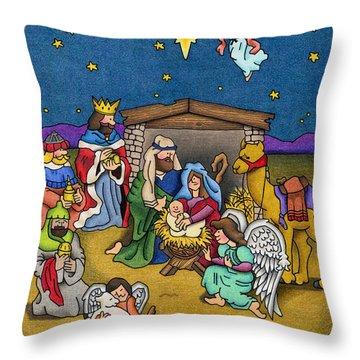 Birth Of Christ Throw Pillows