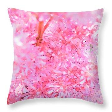 A Natural Pink Bouquet Throw Pillow