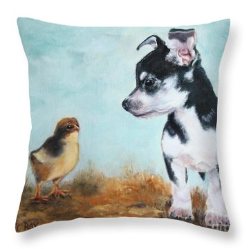 A New Acquaintance Throw Pillow