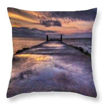 A New Beginning Throw Pillow by Evelina Kremsdorf