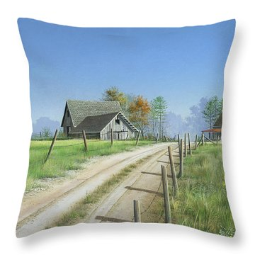 Throw Pillow featuring the painting A New Beginning by Mike Brown