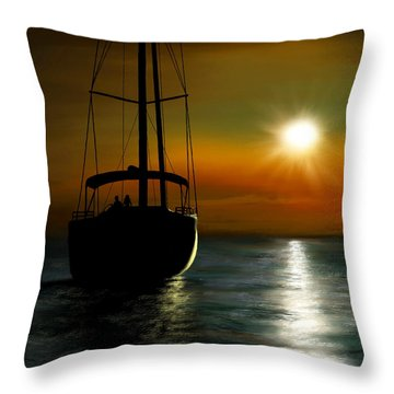 A New Beginning Throw Pillow by Ron Grafe