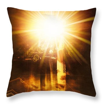 Throw Pillow featuring the digital art A New Dawn  by Fine Art By Andrew David