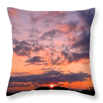 A New Day Begins Throw Pillow