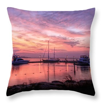 Throw Pillow featuring the photograph A New Day Dawning  by Ola Allen