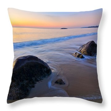 Throw Pillow featuring the photograph A New Day Singing Beach by Michael Hubley