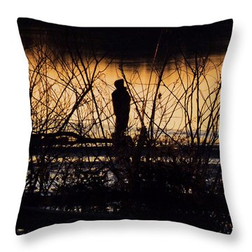 Throw Pillow featuring the photograph A New Day by Robyn King