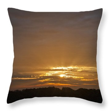 A New Day - Sunrise In Texas Throw Pillow