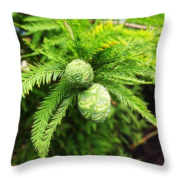 Throw Pillow featuring the photograph A New Generation by Deborah Fay