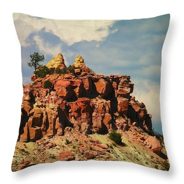 A New Mexico View Throw Pillow by Jeff Swan