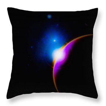 A New Sunrise Throw Pillow by Naomi Burgess