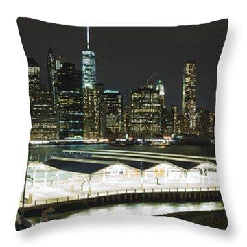 A New York City Night Throw Pillow
