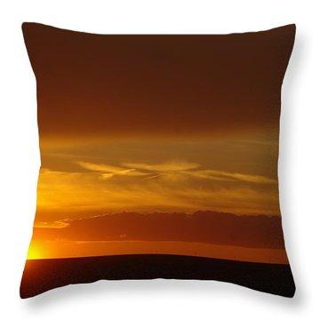 A Nice Cintemplative Sky  Throw Pillow by Jeff Swan