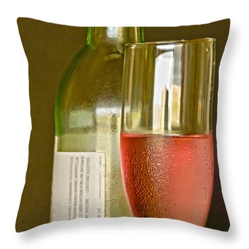 A Nice Glass Of Wine Throw Pillow